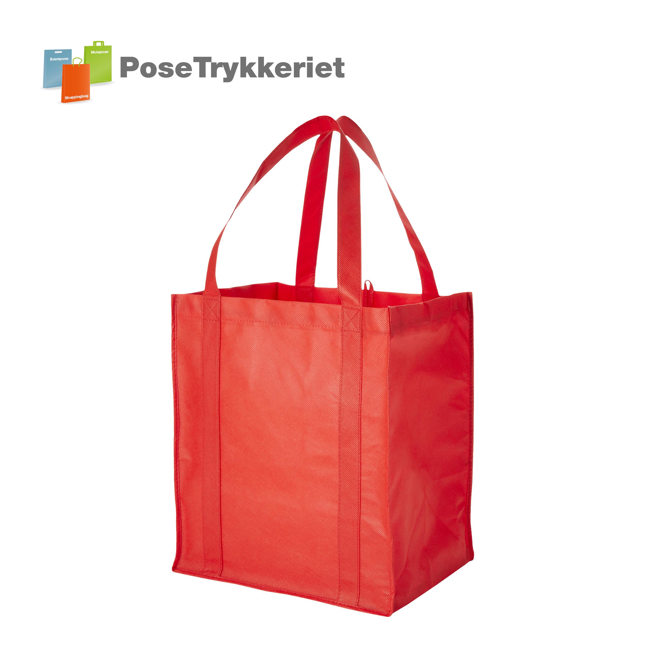 Nonwoven net med logotryk PoseTrykkeriet.dk