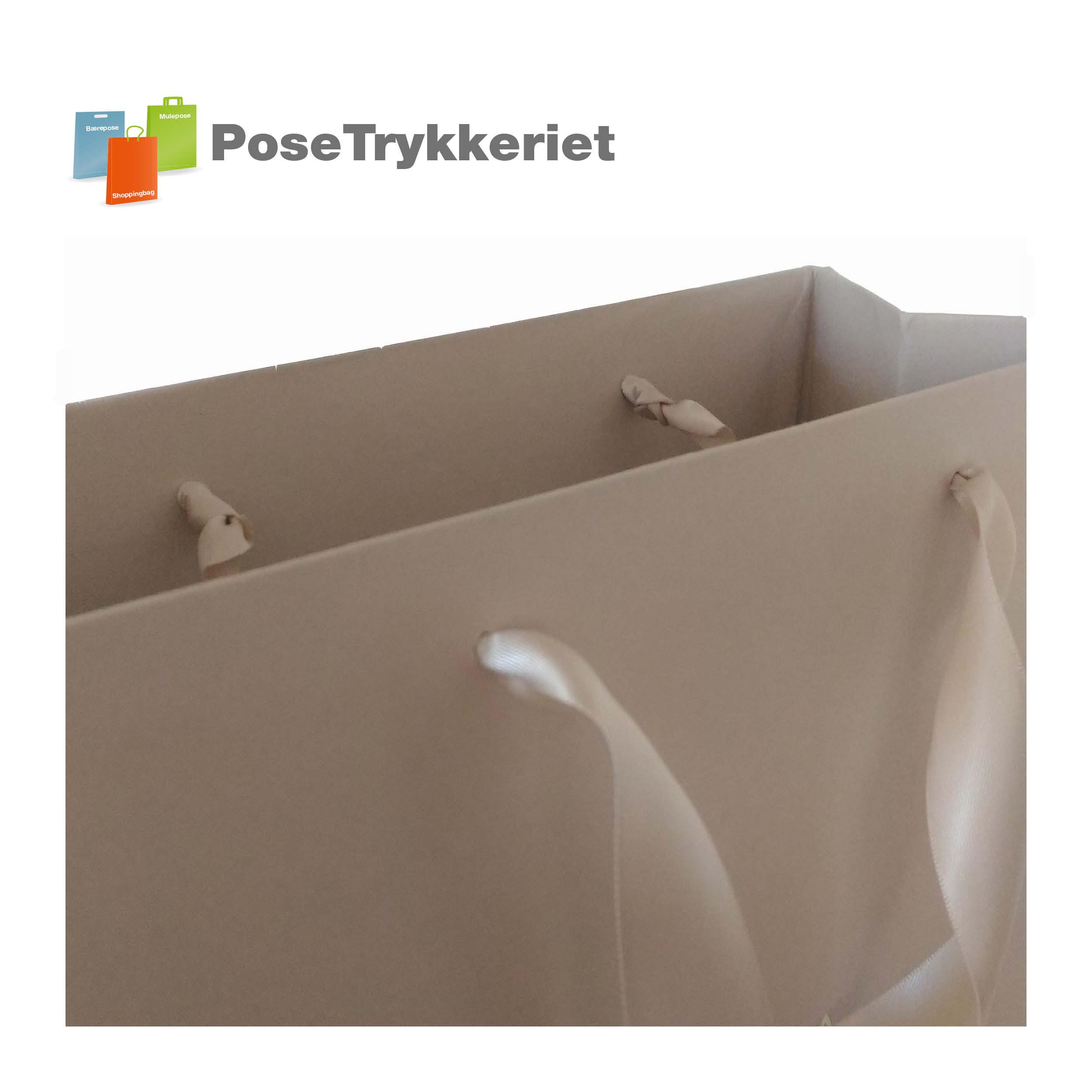Silkebånd med knude. PoseTrykkeriet.dk