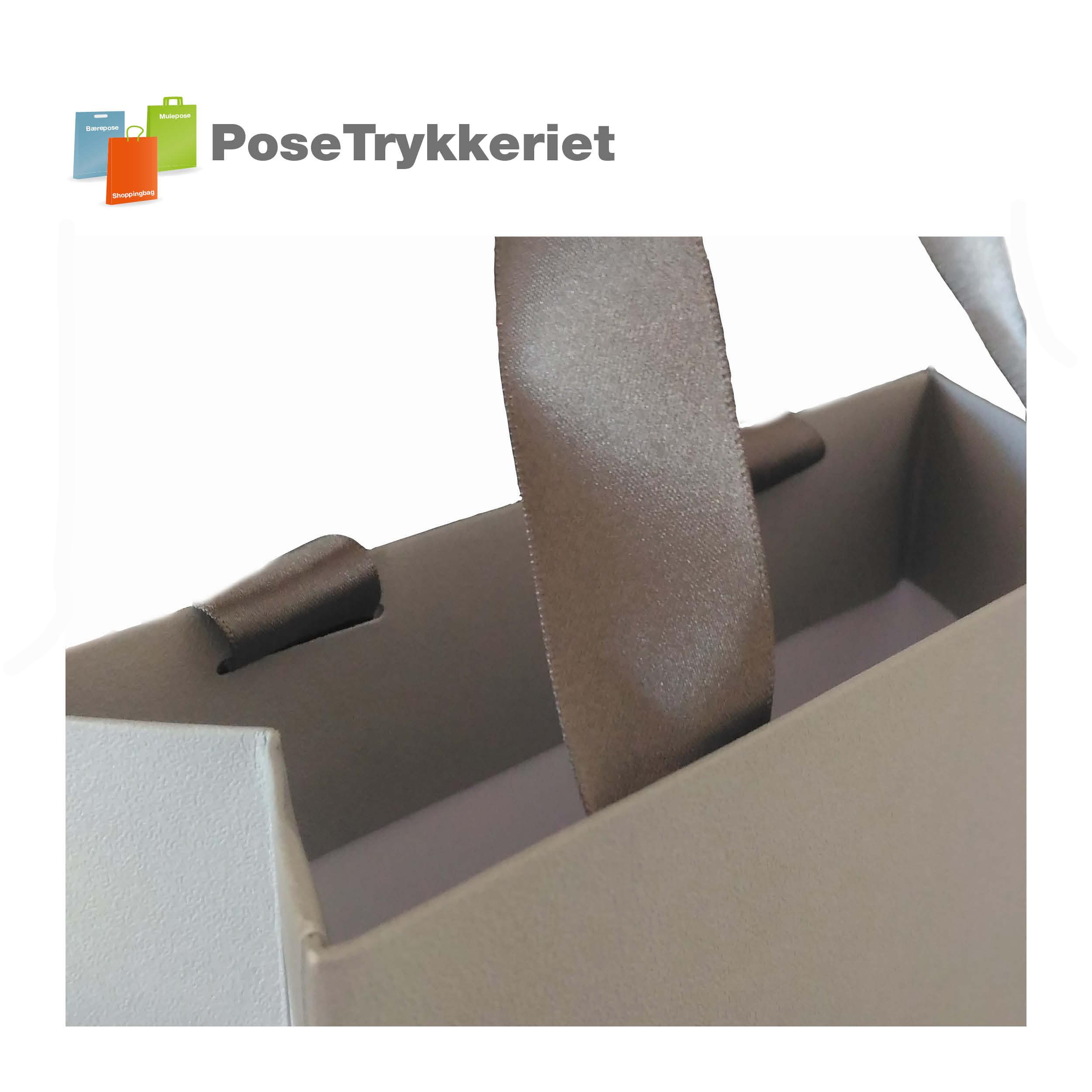 Silkebånd, pålimet. PoseTrykkeriet.dk