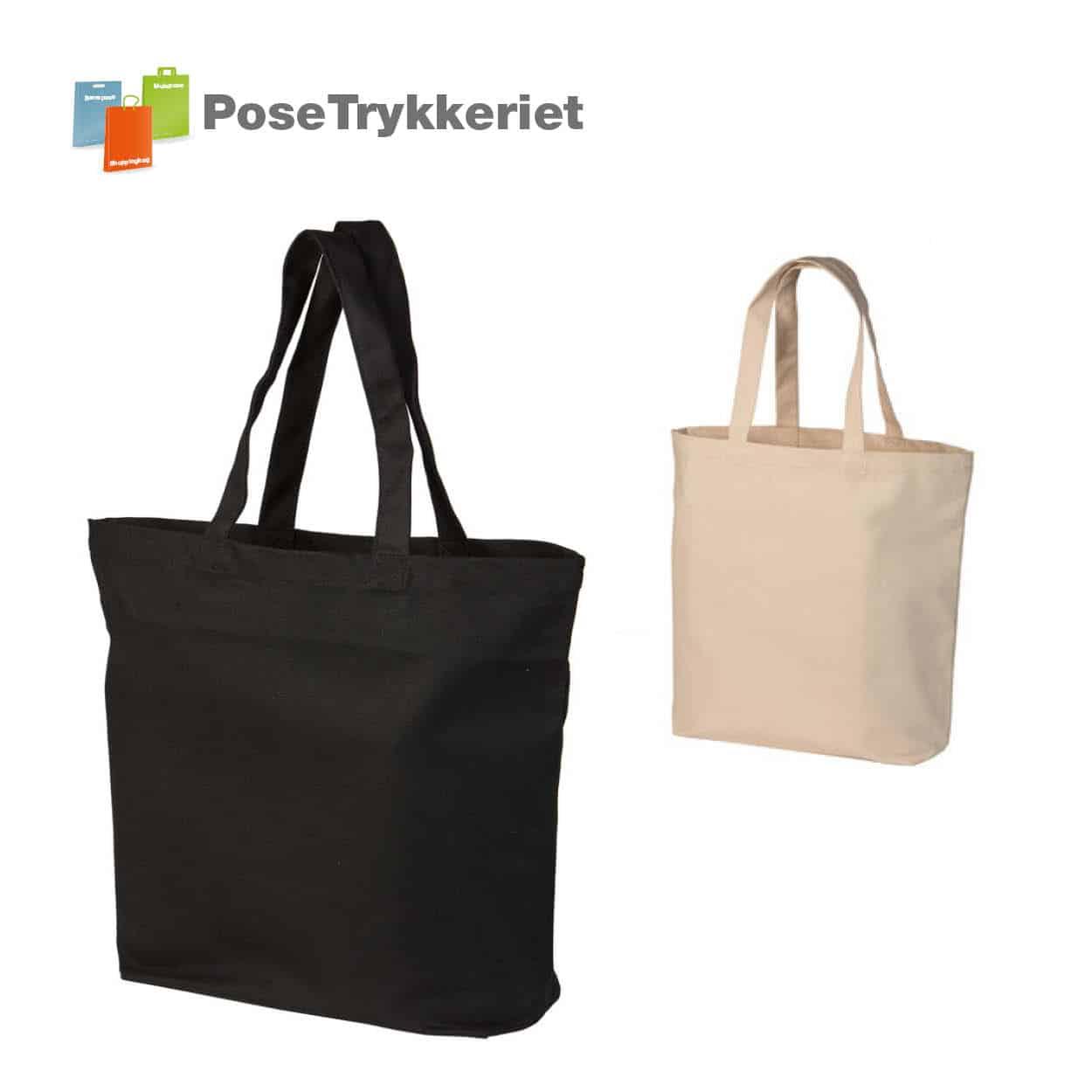 Ekstra stor shopping taske med logotryk.. Posetrykkeriet.dk