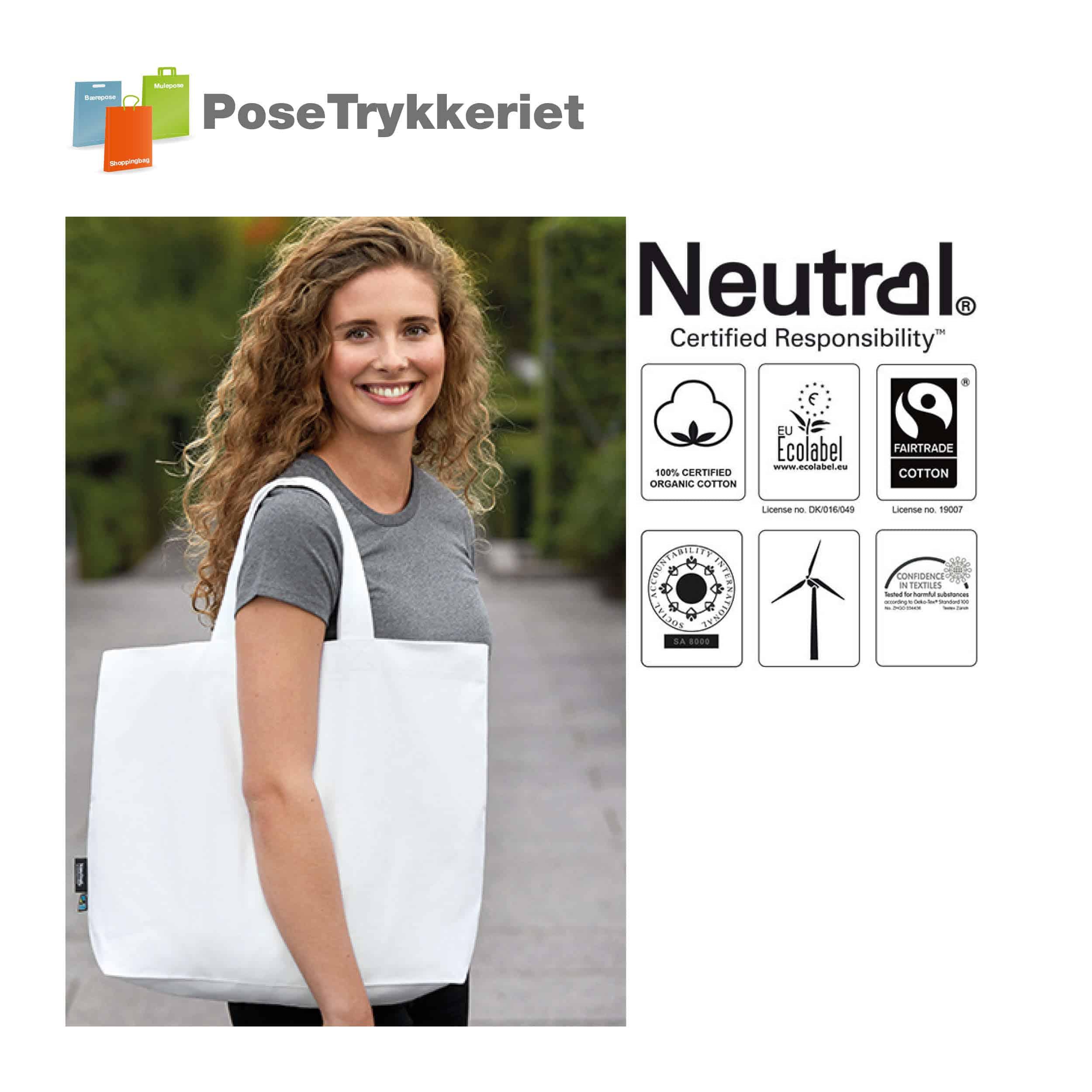 Lækker kraftigt indkøbsnet med tryk. Posetrykkeriet.dk