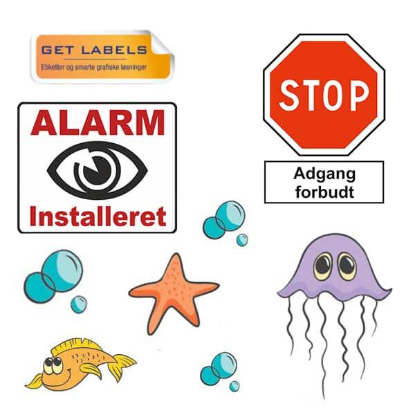 Figurskårne etiketter med logo. CoSign.dk
