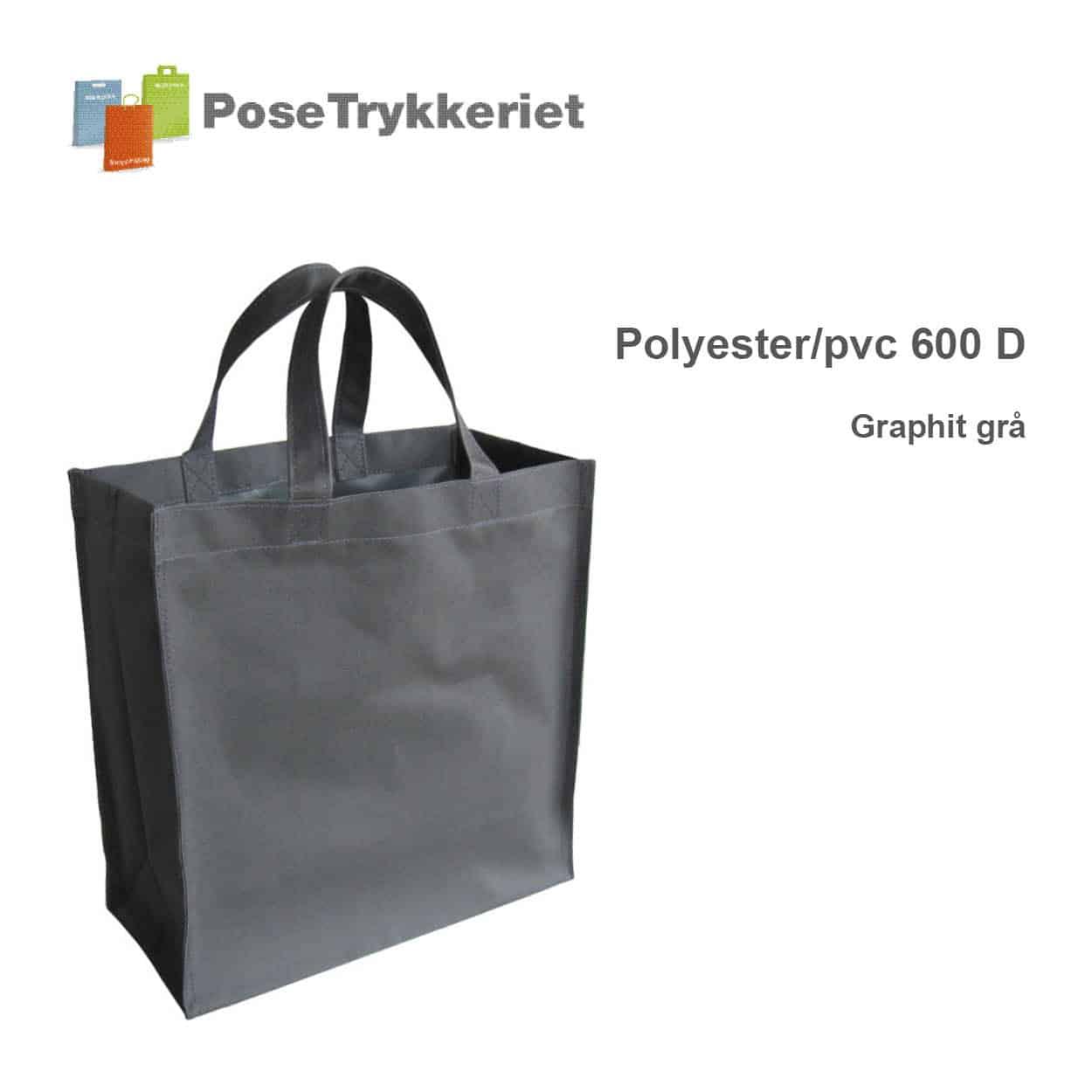 Graphit grå revisorpose 600 D. PoseTrykkeriet.dk
