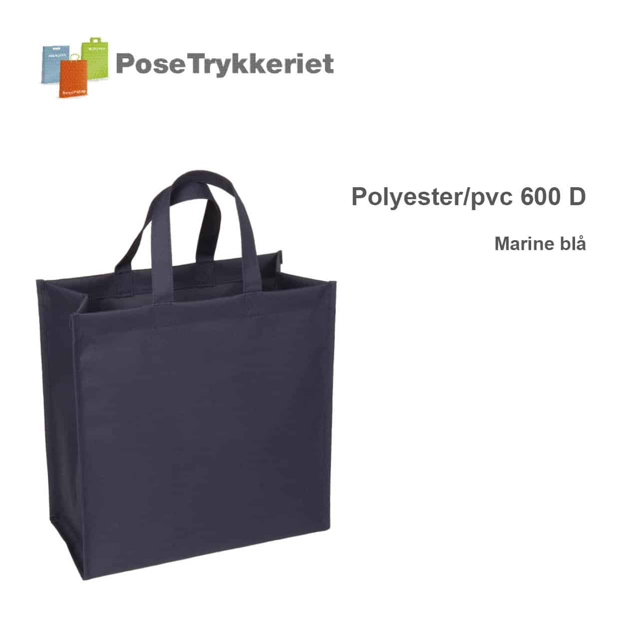 Marine blå revisorpose 600 D. PoseTrykkeriet.dk