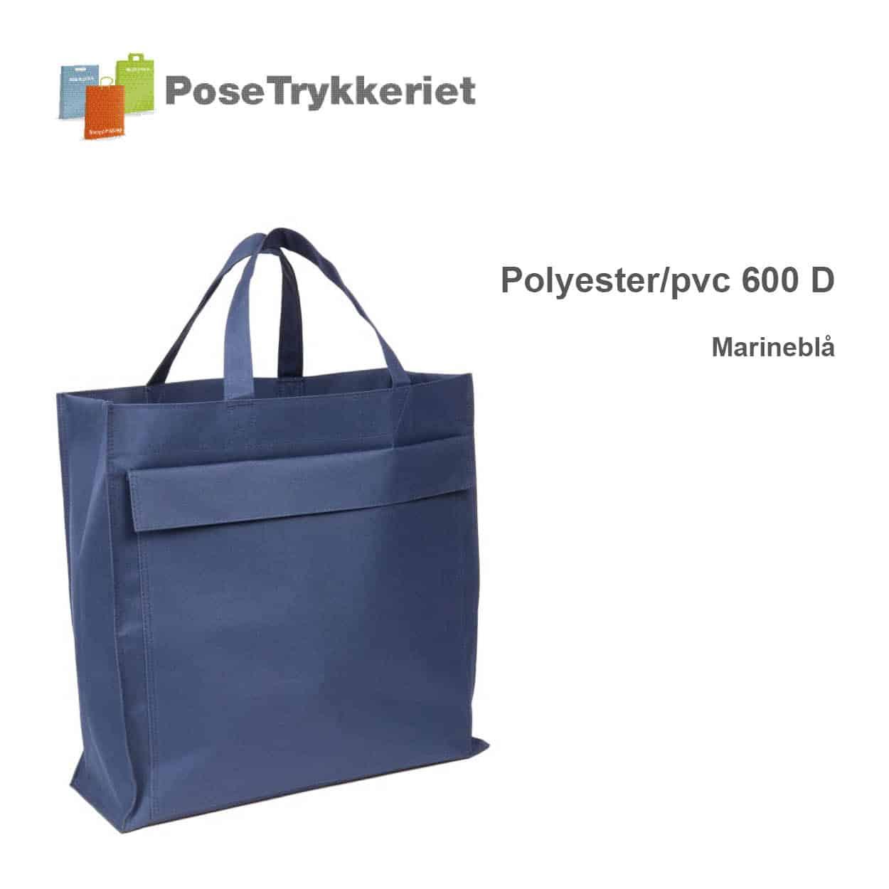Revisor poser med korte hanke og logotryk. Marineblå, Polyester 600D. Posetrykkeriet.dk