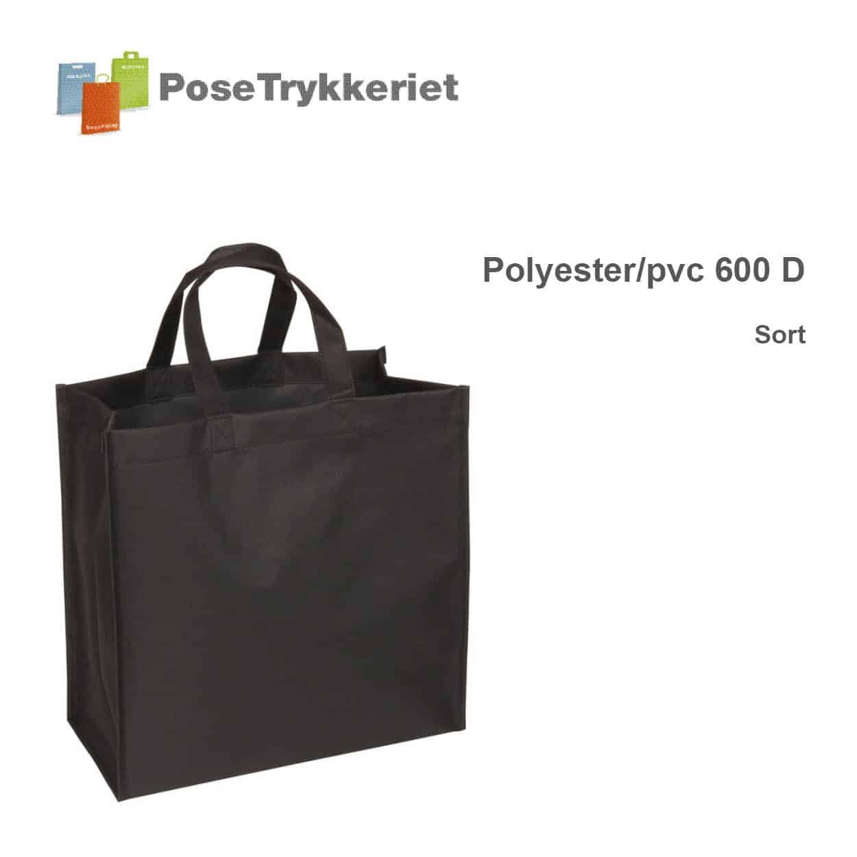 Sort revisorpose 600 D. PoseTrykkeriet.dk