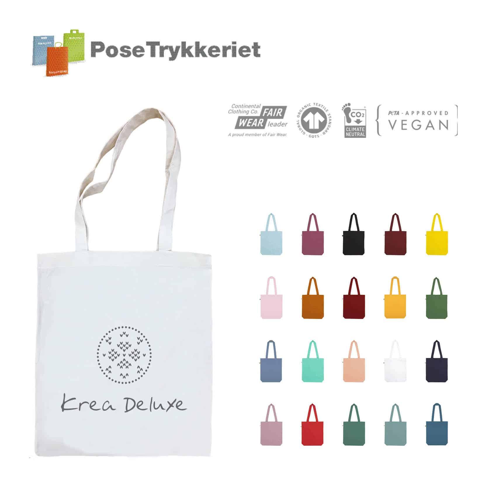 GOTZ certificerede bomuldsposer med logotryk.PoseTrykkeriet.dk
