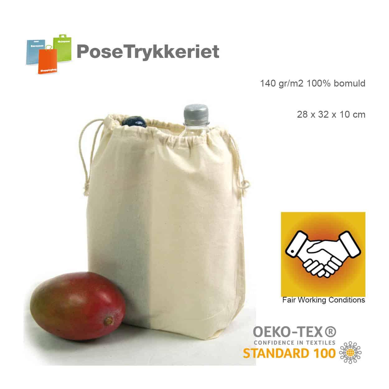 Stringbags til tørvarer. Posetrykkeriet.dk
